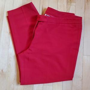Anne Klein Women's Red Bowie Ankle Pants SZ 14